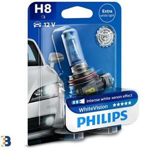1x-H8-Philips-White-Vision-35W-60-Bombilla-del-faro-12360WHVB1
