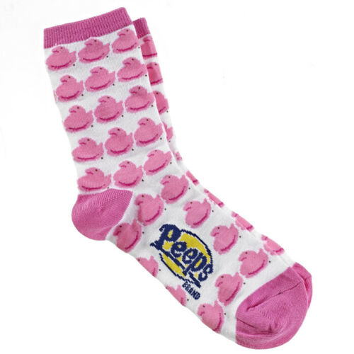 Adult  Size 6-11 Pink Yellow Blue or Purple Peeps Chick Colorful Socks Women