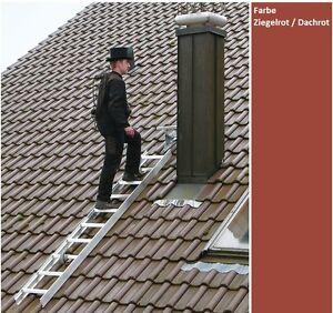 Guenzburger-Aluminium-Dachleiter-Kaminkehrerleiter-Farbe-Rot-Dachrot-Ziegelrot