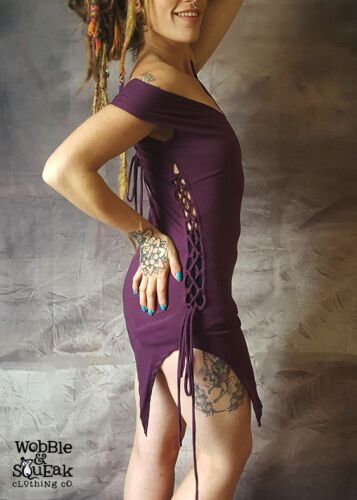 CORSET SIDE DRESS Top Pixie Hippy Goa Psytrance Party Forest Festival Wear