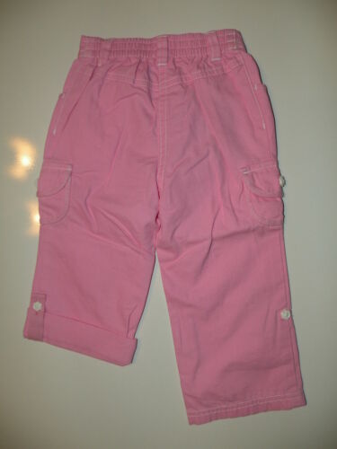 GYMBOREE SPRING RAINBOW PINK ROLL-UP WOVEN PANTS 6 12 18 24 4T NWT
