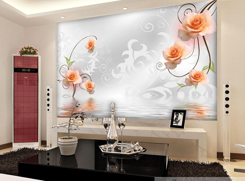 3D Blaumen Muster Wasser 9893 Tapete Wandgemälde Tapeten Bild Familie DE Jenny | Elegant und feierlich  | Abrechnungspreis  | Good Design