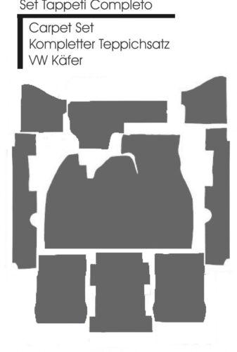 in Schlinge Hellgrau kompl Teppich satz für VW Käfer 1303 Lim