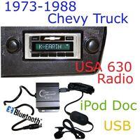 73 74 75 76 77 78 79 Chevy Truck Usa 630 Ii Radio + Bluetooth Kit Ipod Usb