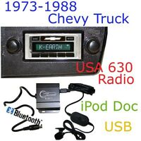 73 74 75 76 77 78 79 Chevy Truck Usa 630 Ii Radio + Bluetooth Kit Ipod Usb
