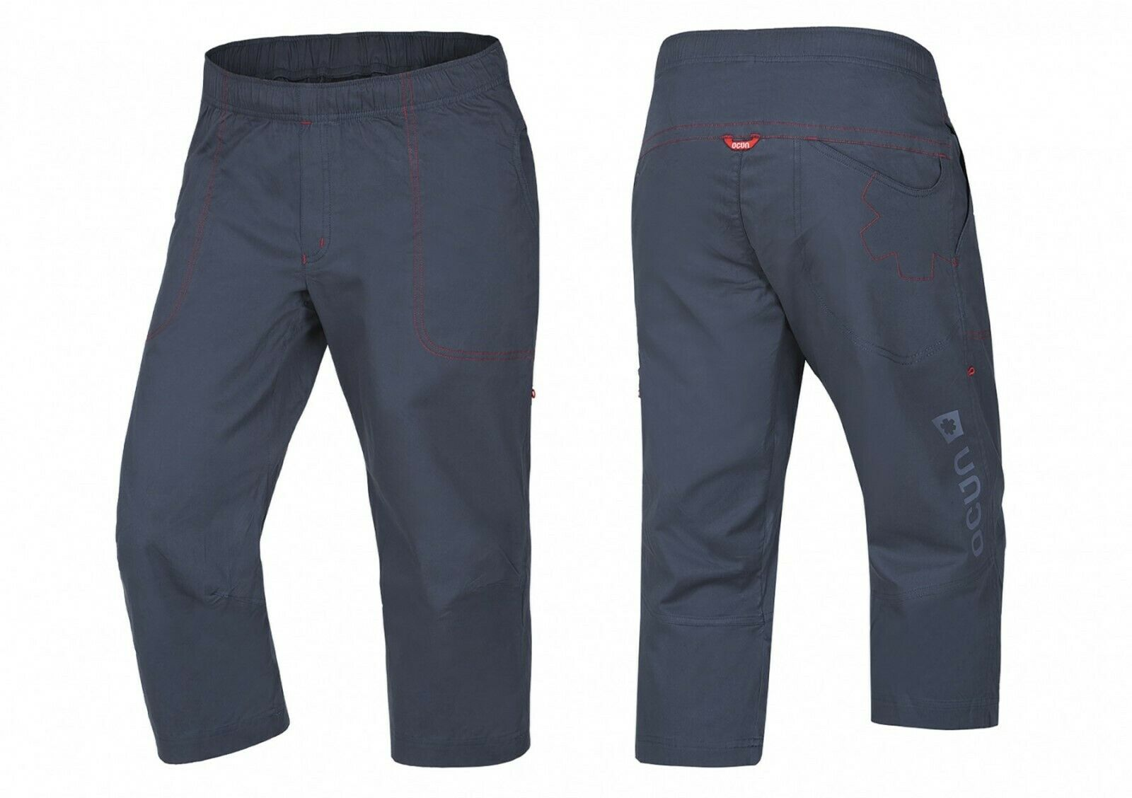 Ocun Jaws 3 4 Pant Men Slate blueee Climbing Pants for Men in 3 4-länge