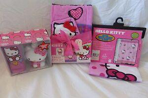 df4cf30b7 5 pc Sanrio Hello Kitty Fabric Shower Curtain, Towel & Accessories ...