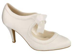 Ouvert D'Esprit Femme Tribunaux Chaussures Satin Robe De Mariage Lacet Dentelle Taille-afficher Le Titre D'origine Pour Convenir à La Commodité Des Gens