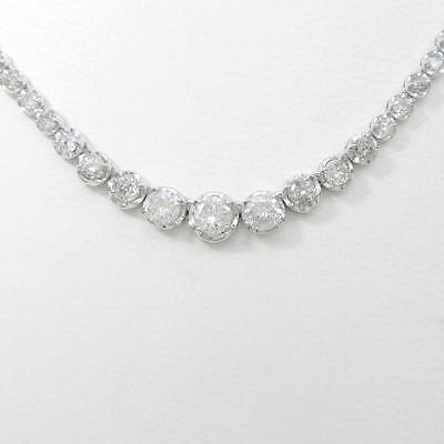 Authentic K18 White Gold Diamond necklace  #241-600-001-2499