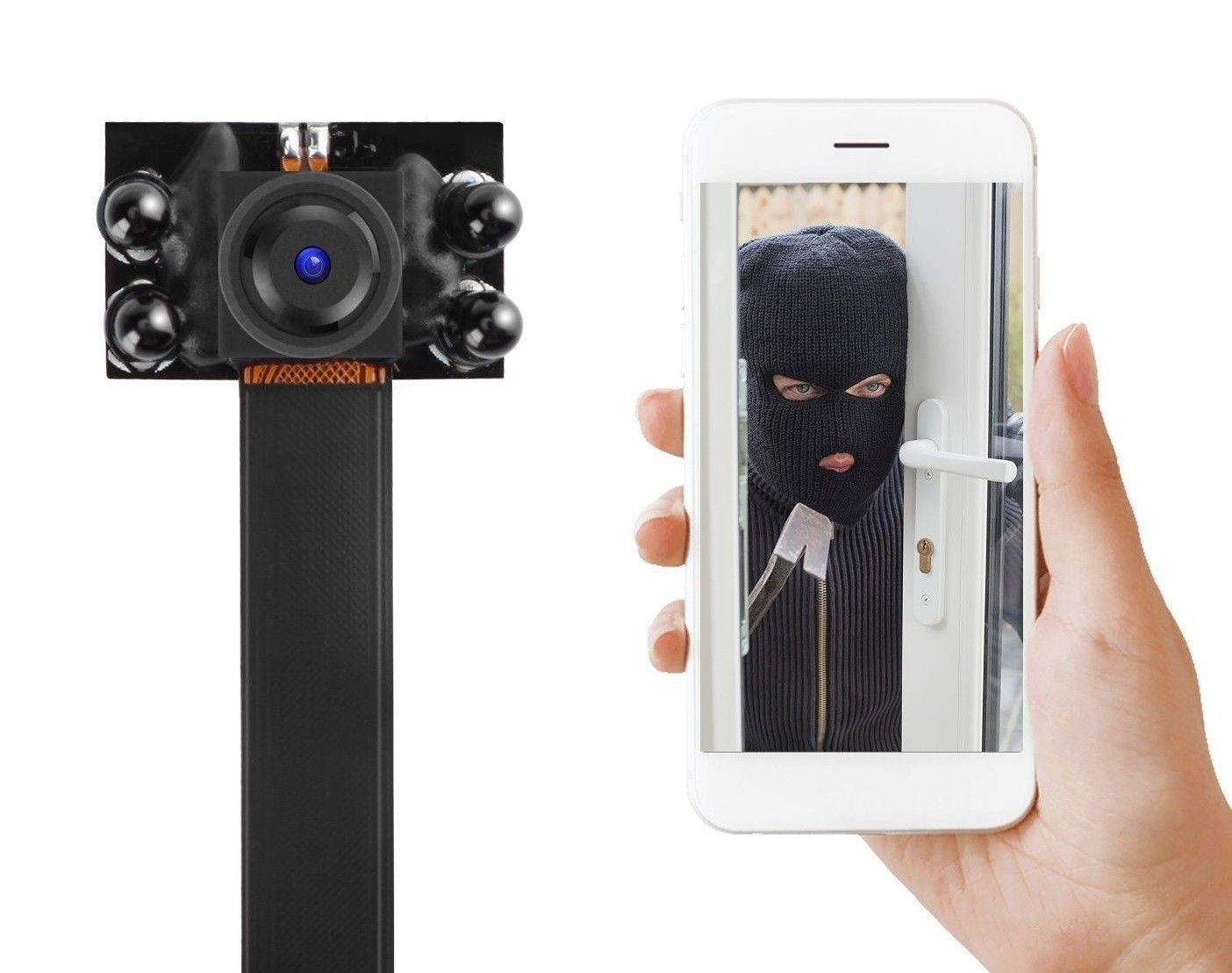 16GB Full HD Sensor Nocturno Mini Cámara de Vigilancia P2P Ip Inet Wlan Wifi App