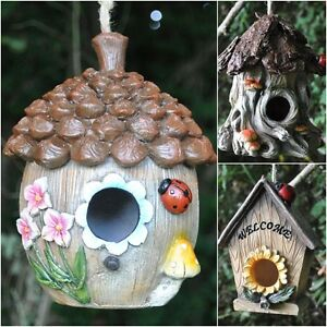 Image is loading Decorative-Hanging-Garden-Wild-Bird-House-Nest-Box-