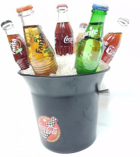 Gadget coca cola pit stop bucket ice mock and bottles
