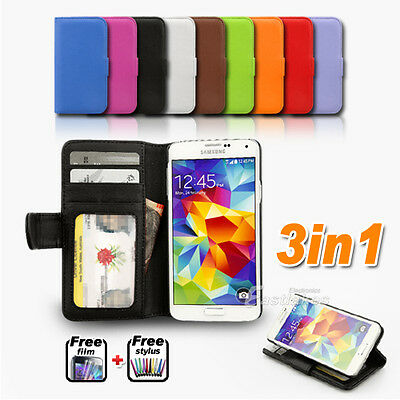 Wallet Leather Case Cover for Samsung Galaxy S4 S5 4G LTE i9505 G900I G900F