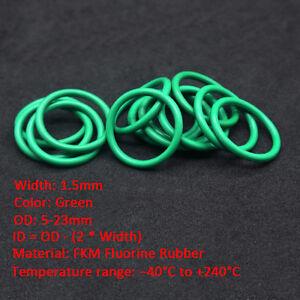 FKM Fluorine Rubber O-Rings Seal Washers Heat Oil Resistant 2mm CS 5-60mm OD