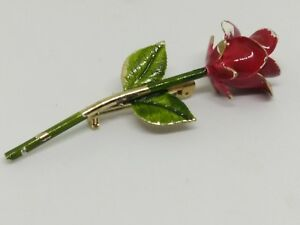 Vintage-Red-and-Green-Enamel-Rose-Pin