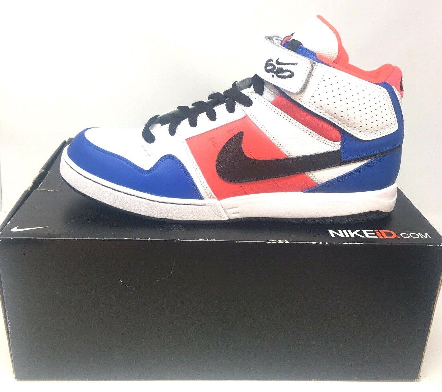 Nike Mens ID Zoom Air 6.0 High Top Sz 12 Blue White Murray 418441 991 Basketball