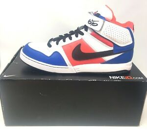 Details about Nike Mens iD Zoom Air 6.0 High Top Sz 12 Blue White Murray  418441-991 Basketball