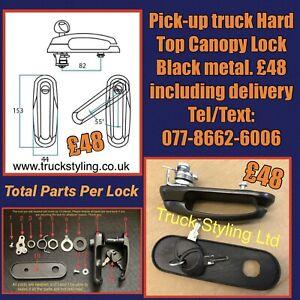 Pick-up-truck-Hard-Top-Canopy-Lock-amp-2-Keys-Black