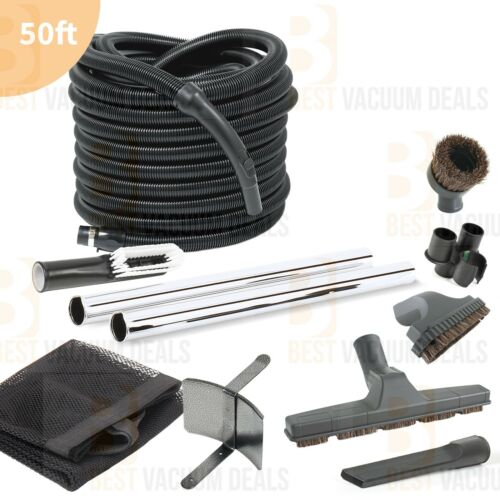 Complete Central Vacuum Garage Car Care Kit 50/' ft Hose and Attachments DELUXE!