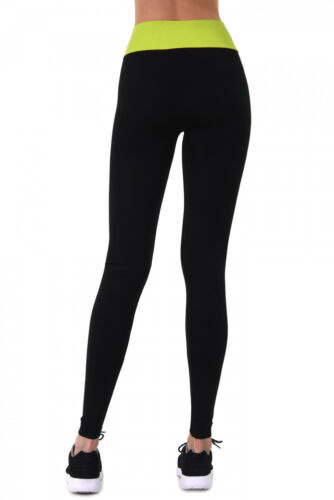 Comfy High-Waisted Two Tone Free Size Leggings by Sofra Super Soft