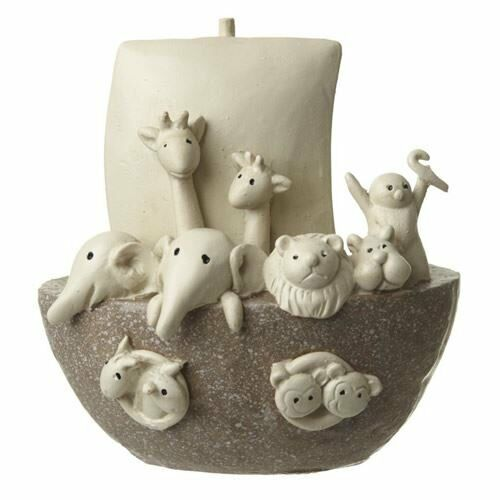 Noah/'s Ark Ornament New Baby Christening Nursery Polyresin
