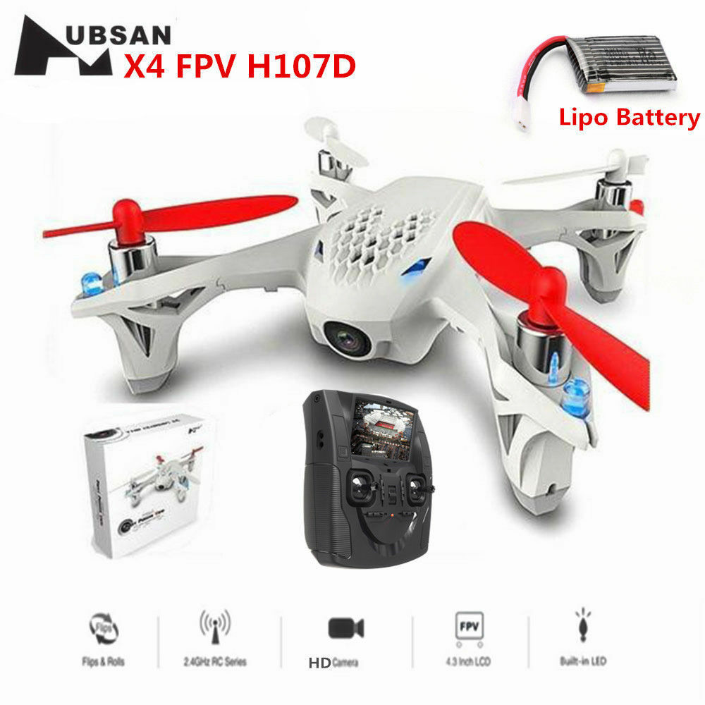 Hubsan H107D X4 Mini FPV RC Quadcopter Drone with 480P HD Camera,LCD, LED RTF