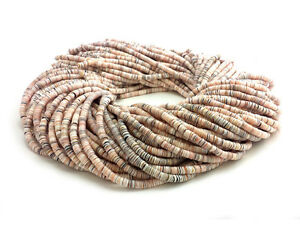 Exotica-Mixed-Luhuanus-Shell-Heishi-Beads-2-3-mm-24-Inches-Strand