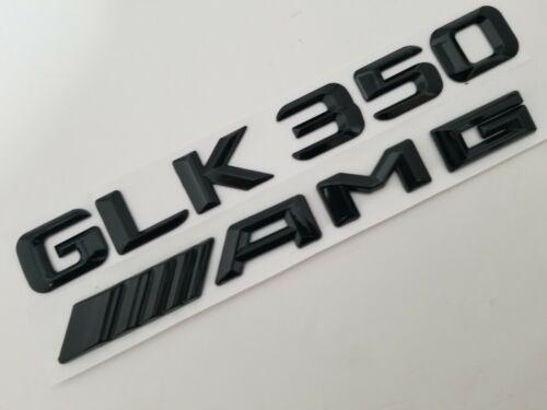 BLACK GLK350 AMG FIT MERCEDES REAR TRUNK NAMEPLATE BADGE EMBLEM NUMBER LETTERS