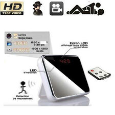 HD Camcorder Spy Alarm Clock Hidden Camera DVR Motion Digital Video Cam Remote