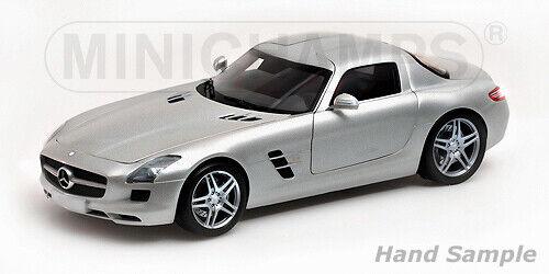 Mercedes SLS AMG 2010 gris 1 18 MINICHAMPS 100039025