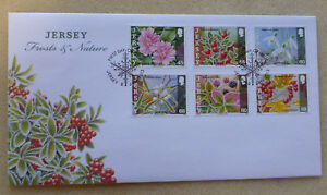 2013-JERSEY-FROSTS-amp-NATURE-SET-OF-6-STAMPS-FDC-FIRST-DAY-COVER