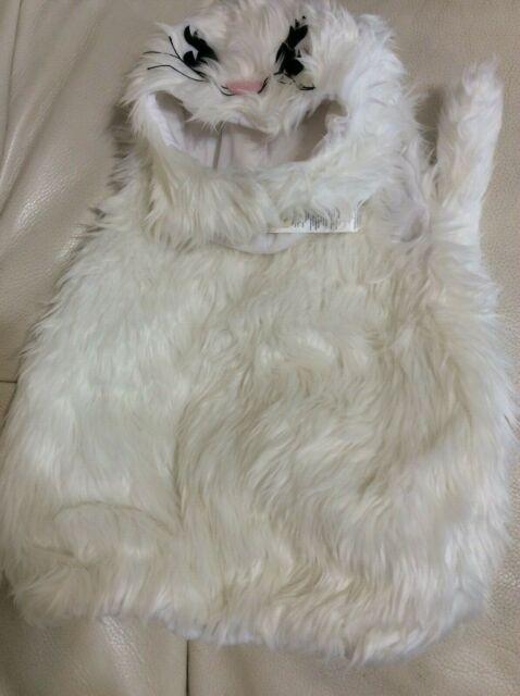 Pottery Barn Kids White Kitty Halloween Costume 7 8 Nwt