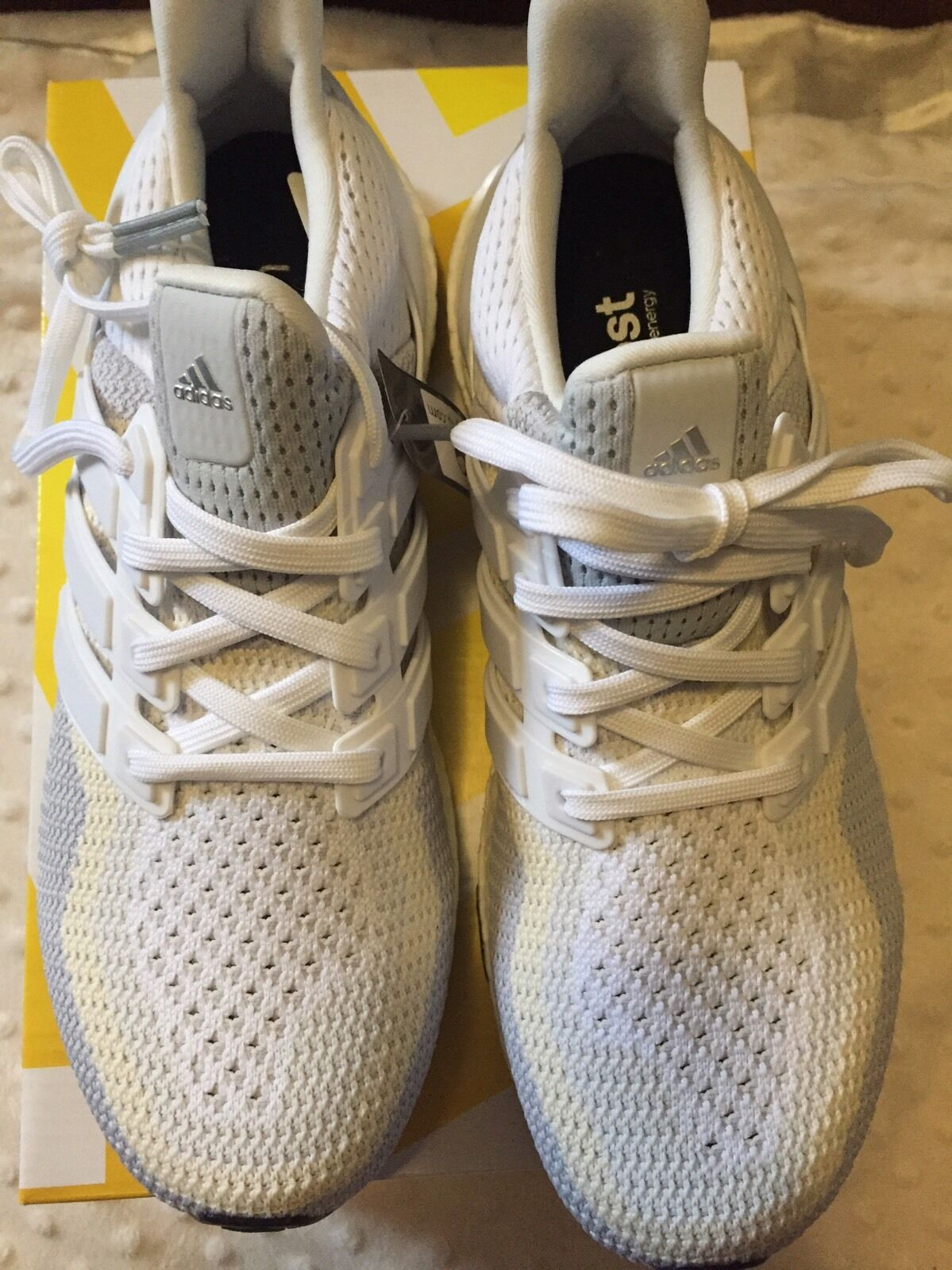 Adidas Women's Performance Boost White Sneakers Size 8