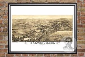 Vintage-Dalton-MA-Map-1884-Historic-Massachusetts-Art-Victorian-Industrial