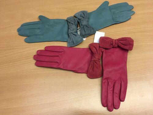 JOHN LEWIS Femmes Gants en Cuir Femme S//M Neuf Rrp £ 39 Vous Choisissez Blue Raspberry