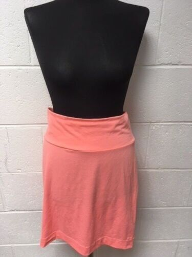 ONLY SPRING NEON LOVE CORAL MINI SKIRT TURNED OVER WAIST RRP £22.99 SALE £7.99