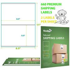 660 Premium Half Sheet Shipping Labels 85x55 Self Adhesive 2 Per Sheet 600