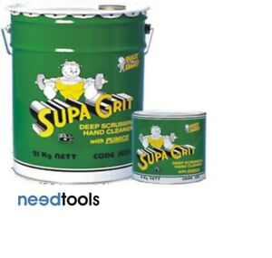 HAND-CLEANER-4-KG-Supa-Grit-poly-bead-grain-with-Pumice-Hand-Cleaners-amp-pump-pac