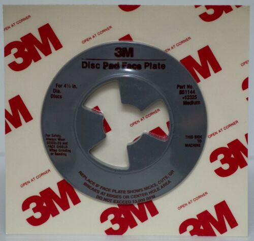 "Medium 13325 Smooth USA MADE  3M™ 4-1//2/"" Disc Pad Face Plate"
