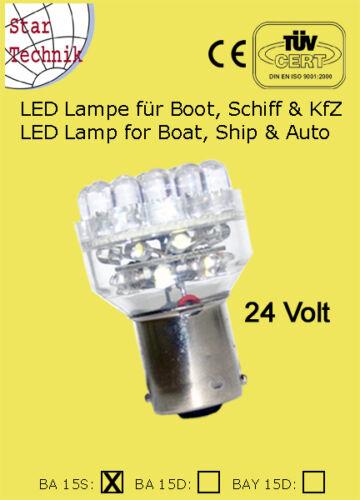 24 Volt Lampe 32 LED Lampeneinsatz f Positionsleuchte BAS-15 Schiff Boot BAS-15