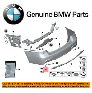 For BMW F80 F82 F83 Rear Bumper Grid Lateral Grille Passenger Right Genuine