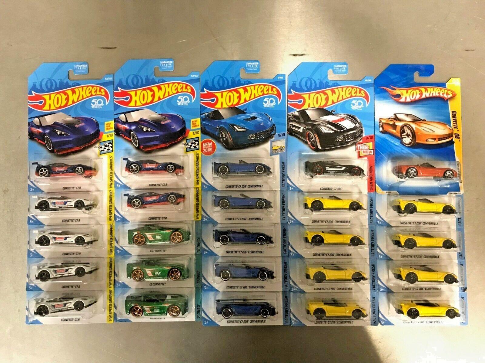 nouveau LOT of 25 HOT Wtalons Chevy Corvette C7.R  C7 Z06 C6 Convertible Summit  sortie