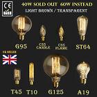 E27 E14 Screw 60/40W Vintage Antique Retro Style Light Filament Edison Lamp Bulb