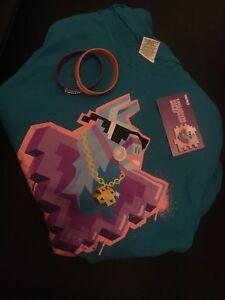 Details Zu Fortnite Gamescom Lama Spray Code T Shirt 2 Armband Orange Und Lila
