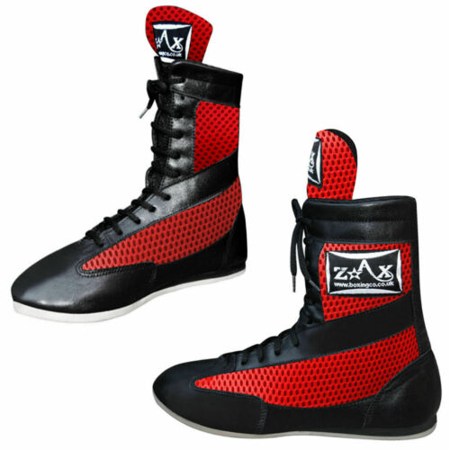 Leather Boxing Boots Shoes Rubber Sole Boots Long Anklet UK 1 TO UK 13