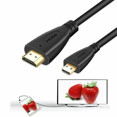 POWE-Tech Micro HDMI Type D Audio Video TV-Out Cable//Cord//Lead for Samsung Digital Camera