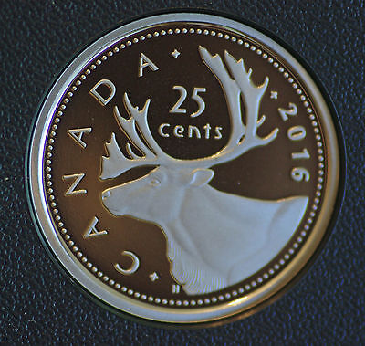 steel composition 2016 Canada Classic design proof finish 25 cent quarter