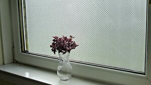 *aba-Decor* Decorative Frosted Stained Glass Static Window Vinyl Privacy Film