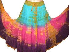 "Shaded Tribal gypsy 25 yards yard belly dance dancing cotton skirt L36"" ATS"