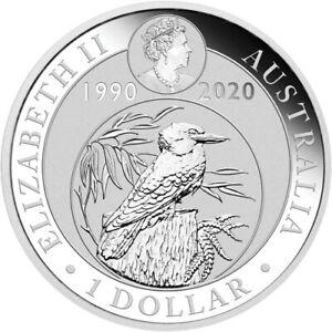 2020-1-oz-Australian-Silver-Kookaburra-30th-Anniversary-Coin-BU